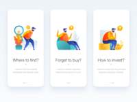 Intro Screen of Financial APP