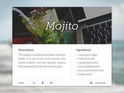 Mix your Mojito ui mojito cocktail design lightbox image