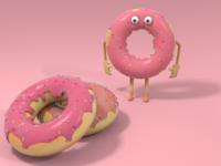 Donut - Character Design - Cinema 4D