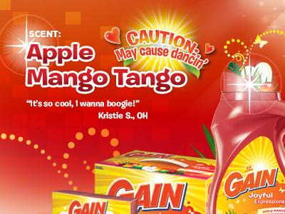 Gain Apple Mango Tango Website
