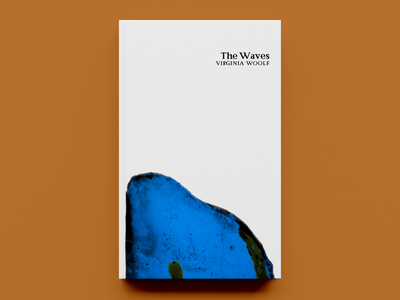 'The Waves' by Virginia Woolf – Cover Concept typography publishing publication design cover design concept book cover design book cover book