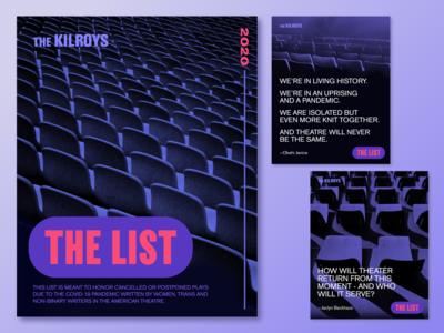 The Kilroys – The List logo typography branding graphic design