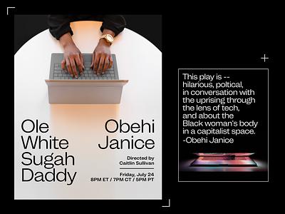Ole White Sugah Daddy –Marketing Materials social media marketing design typography graphic design