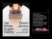 Ole White Sugah Daddy – Marketing Materials social media marketing design typography graphic design