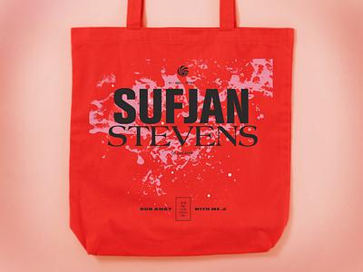 Sufjan Stevens –The Ascension music totebag design typography graphic design