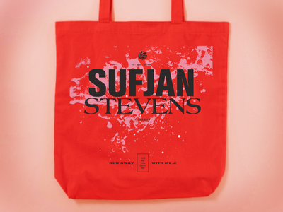 Sufjan Stevens – The Ascension music totebag design typography graphic design