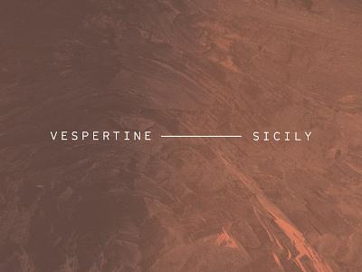 VESPERTINE — SICILY restaurant menu design branding typography graphic design