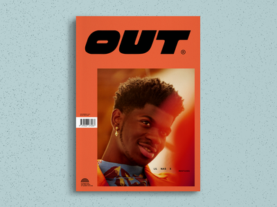 OUT Magazine – Cover Redesign Concept design cover design publishing branding graphic design queer gay magazine design typography redesign concept redesign magazine out