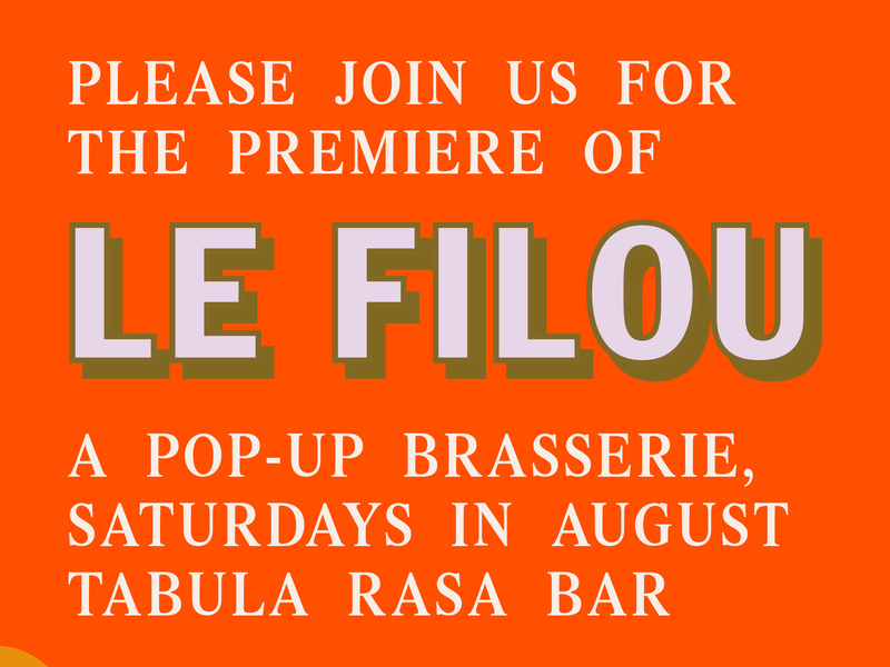 Le Filou – Marketing Flyer pop-up restaurant flyer graphic design branding marketing le filou