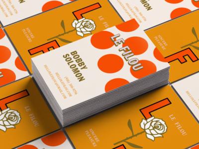 Le Filou –Business Cards pop-up restaurant business card graphic design branding le filou
