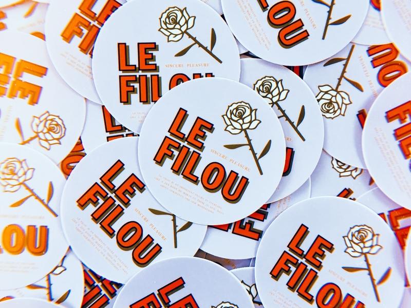 Le Filou – Stickers sticker graphic design branding pop-up restaurant le filou