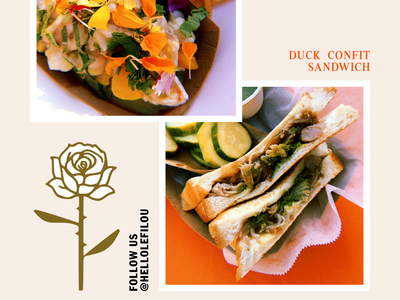 Le Filou –Marketing Flyer (Take 2) flyer graphic design branding pop-up restaurant le filou