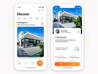 Redesign Concept for OLX App rapidgems studio mobile ui iphone x interaction design rapidgems mobile clean minimal olx designer uiux