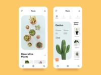 Ornamental Plants Mobile App Concept