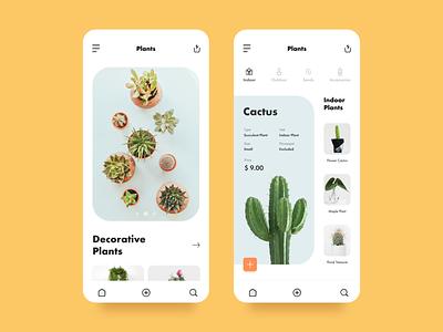Ornamental Plants Mobile App Concept bonsai plant online shop plants rapidgems studio rapidgems mobile clean adobe adobexd minimal uiux designer interaction design