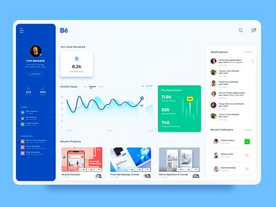 Dashboard Behance behance dashboard ui dashboard design xd mobile adobexd clean minimal adobe designer uiux interaction design