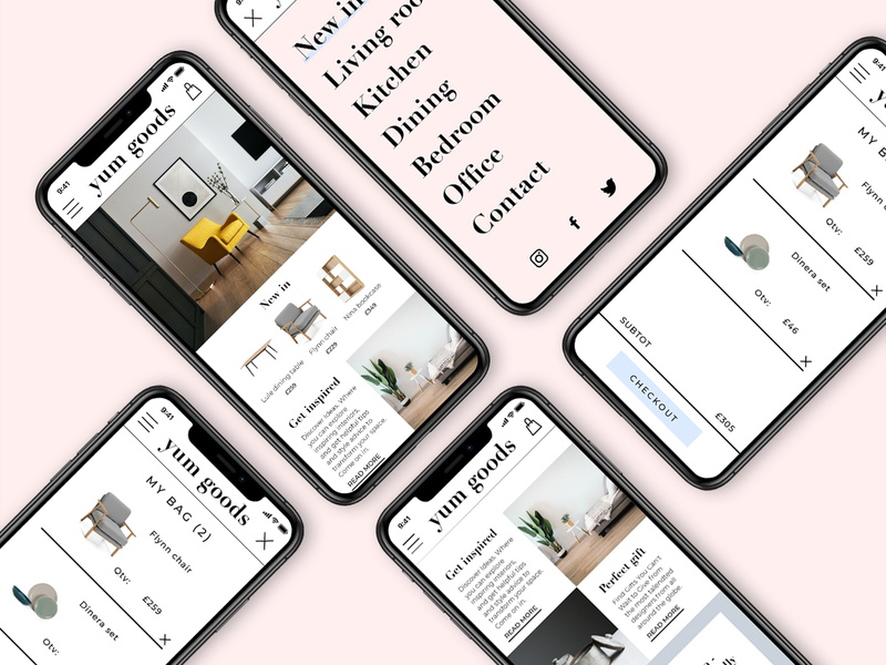 yum goods - concept design for mobile sketchapp ecommence web webdesign uimobile mobileui uiux ui