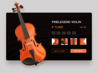 Musical Instruments e-commerce product page