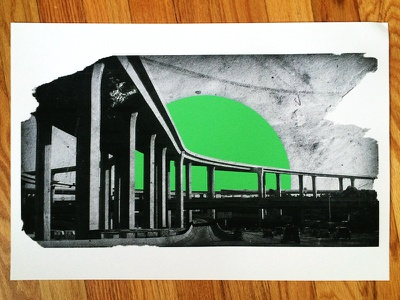 The Last Freeway - Print sun la highway illustration print california freeway longreads