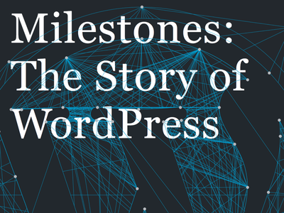 Milestones Cover book cover cover open source ebook book wordpress