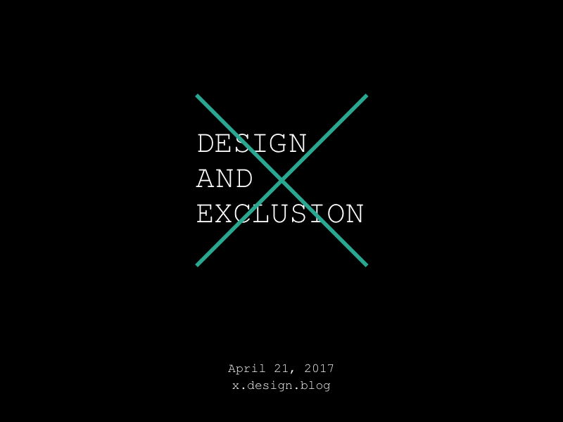 Design and Exclusion automattic exclusion inclusion conference