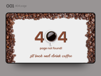 Daily UI 001 — 404 page