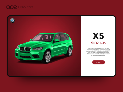 Daily UI 002 — BMW cars