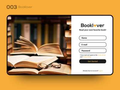 Daily UI 003 — Booklover