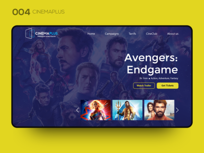 Daily UI 004 — CINEMAPLUS