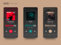 Daily UI 005 — Mp3 Player