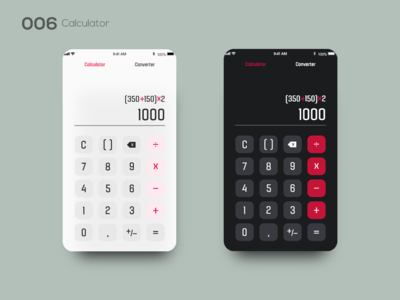 Daily UI 006 — Calculator