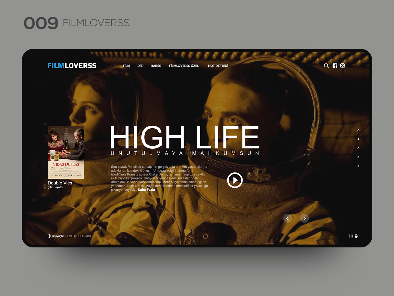 Daily UI 009 — FILMLOVERSS bootstrap movie film web design website interaction interface uidesign uxdesign ux design ux  ui uxui ux uiux ui