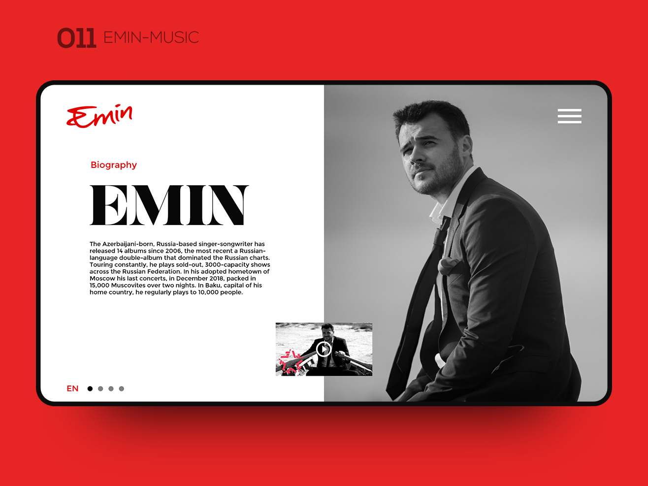 Daily UI 011 — EMIN-MUSIC ui kit ui icons ui ux designer ui interaction ui ux design ui ux user ui design uidesign ui ux interaction inspiration ui inspiration ui interface uxui webdesign web ux musician uiux ui