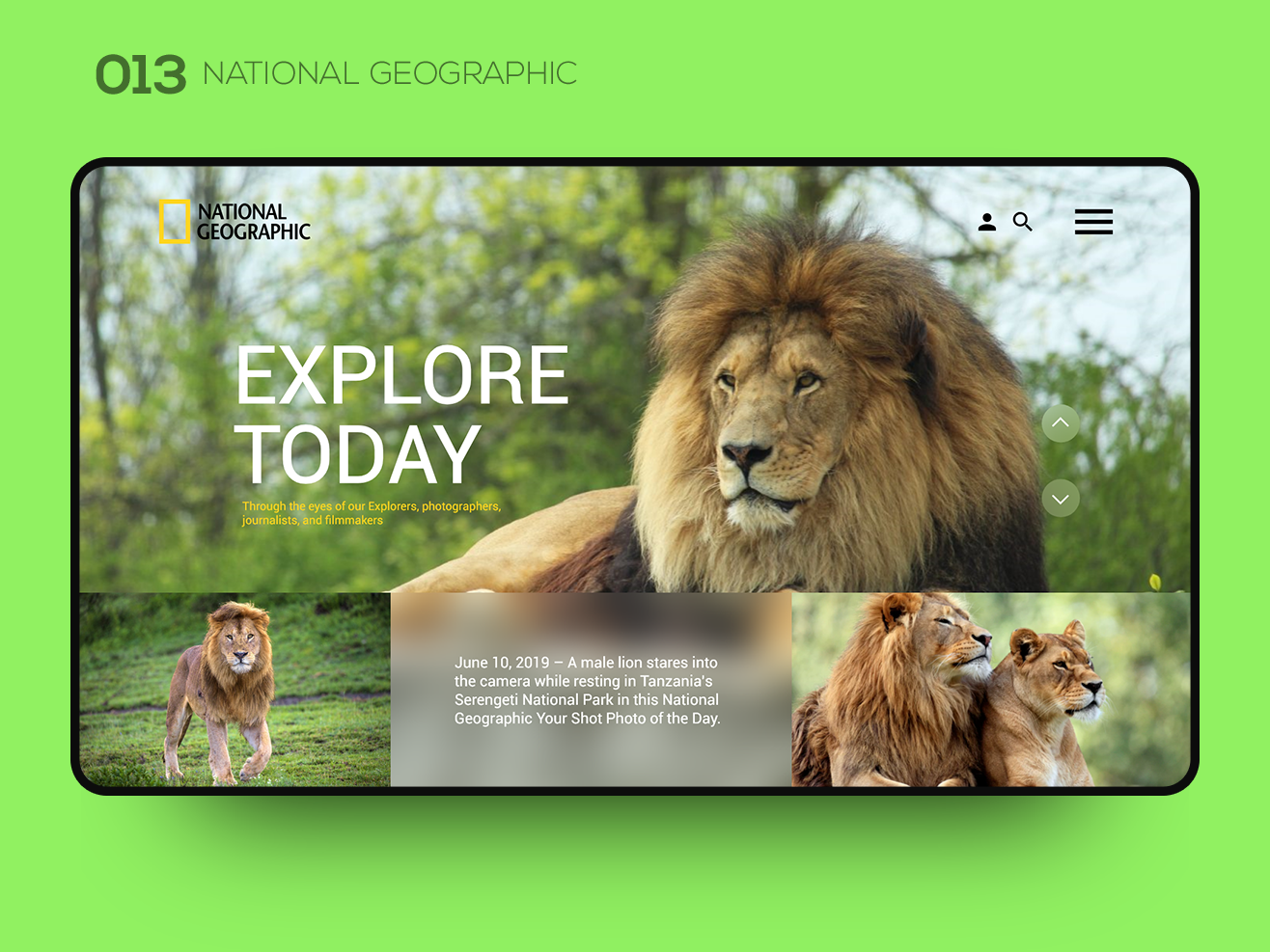 Daily UI 013 — NATIONAL GEOGRAPHIC user interface ui ux ui design ux ui ui  ux uidesign user interface interface ui inspiration uxui ui design web design webdesign interaction website national geographic uiux ui