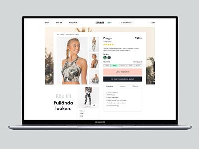 E-commerce exploration - Product page e-comerce web design design concept ux ui
