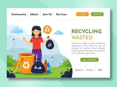 Recycling Landing Page