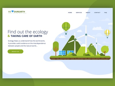 Our Earth Landing Page