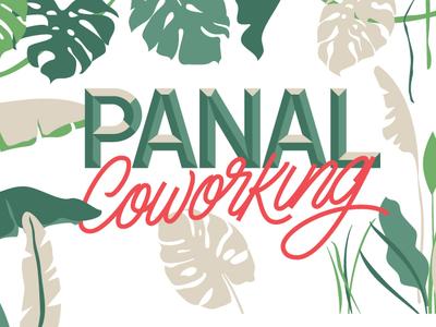 Panal Coworking Mural illustration murals type typography design goodtype lettering