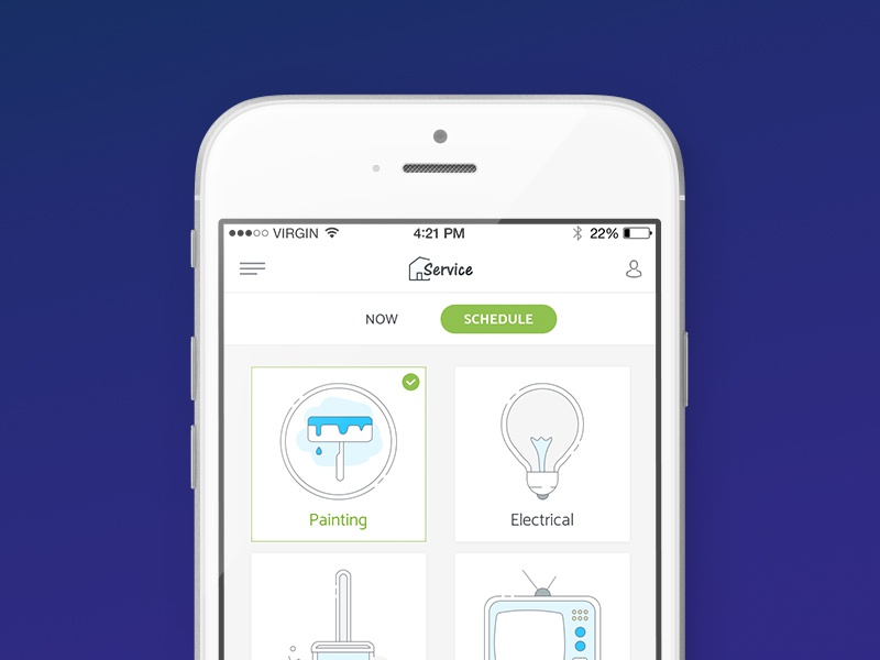 Home Service App by Gabriela Namașco on Dribbble