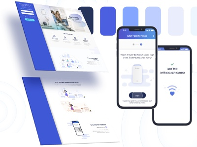 Be mesh responsive design page product animation design ui wifi
