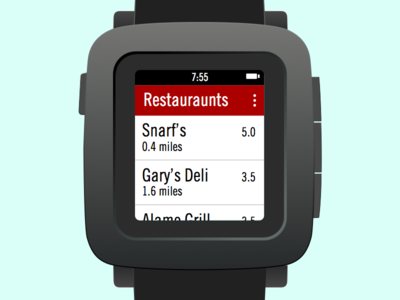 Yelp for Pebble Time