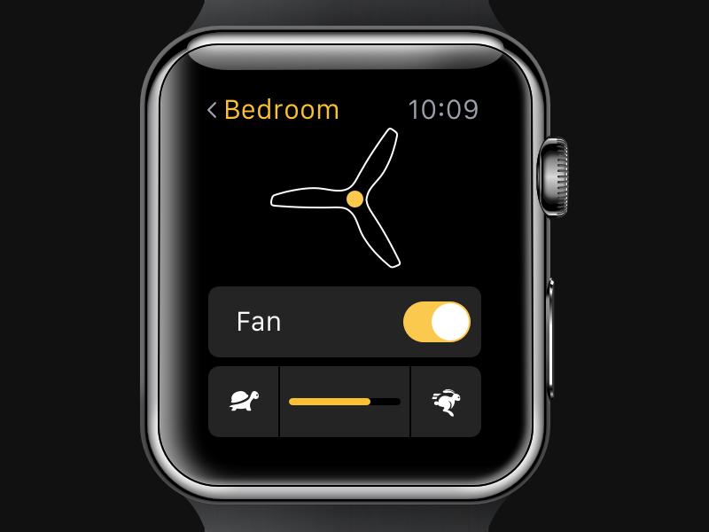SmartFan Apple Watch App apple watch wearable home fan