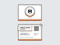 Business card of the company Meeple House