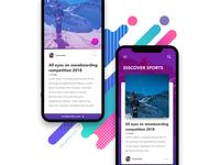 Sports Magazine App - Swipe up to read