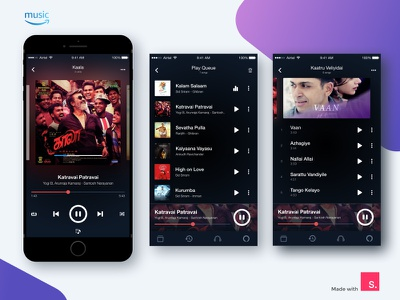 Amazon Music App Redesign visual ux ui redesign android song amazon app player music