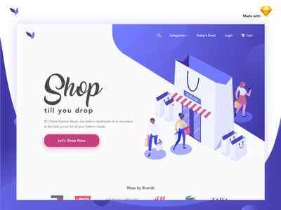 Fashion Shopping Ecommerce Landing Page ui illustration clothes colors web dress shopping ecommerce landing page fashion