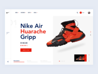 Shoes E-Commerce Site Product Page