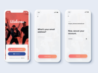 Simple Sign Up Flow - Meetups App