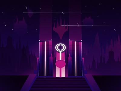 Hallowed Fountain Vector Artwork graphic design vector art design magic the gathering illustration