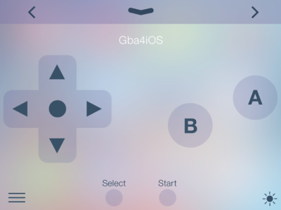 iOS Controller Center for GBA4iOS by Paul Goddard on Dribbble